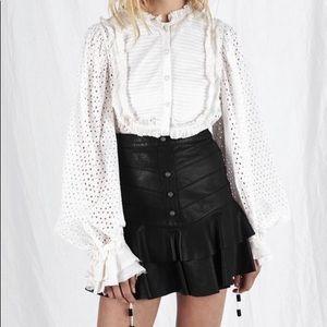 NWT Aje. Leather Skirt